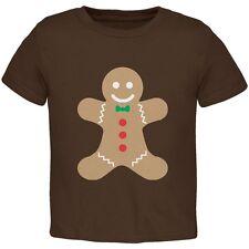 Christmas Gingerbread Man Brown Toddler T-Shirt Top