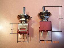C & K interruptor mini toggle switches on off on un de un