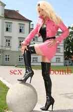 SEXY stivali alla coscia nero opaco tacco 13 CM dal numero 36 al 46 GLAMOUR