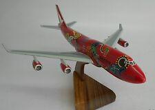 B-747 QANTAS Wunala Dreaming Airplane Wood Model Small New