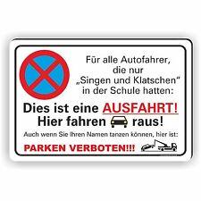 20x30cm Parkverbot Schild Aufkleber Parken verboten Ausfahrt freihalten PV-020