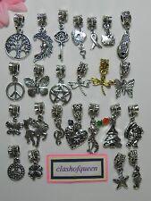 Charms Pendant Dangle Fit European Bead Charm Style Bracelet ~More Option~