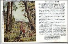 """Lied-AK Liedkarte Musik ~1925 Text Noten """"De Schwamma-Marsch"""" G. Lattermann"""