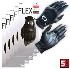 Black Men's Golf Glove 5 Pack All Weather - Choose Size