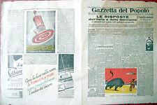 1937 GUERRA CIVILE SPAGNOLA CURIOSO VOLANTINO SU VELINA 'GAZZETTA DEL POPOLO'