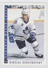 1993-94 Score American #41 Nikolai Borschevsky Toronto Maple Leafs Hockey Card