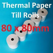 80mm x 80mm Thermal Paper Cash Register Till Rolls 80 x 80mm