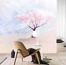3D  Weiß Welt, rosa Baum 44 Fototapeten Wandbild Fototapete BildTapete FamilieDE