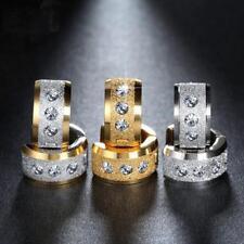 Stainless Steel Hoop Earrings for Men Women Clip on Piercing Jewellery JA