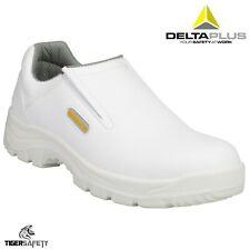 Delta Plus Robion S2 SRC White Mens Steel Toe Cap Food Hygiene Safety Shoes PPE