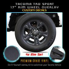 For 2016-2019 Tacoma TRD Sport Rim Wheels Vinyl Wrap Decals - Matte Carbon Fiber