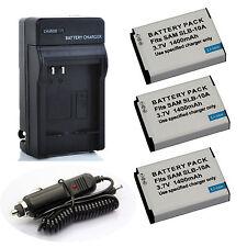 SLB-10A Li-ion Battery Charger Kit for JVC BNVH105 BN-VH105 BN-VH105E BN-VH105EU