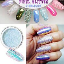 PIXEL EFFECT Kopciuszek NAIL ART GLITTER IRIDESCENT SEQUINS Powder Cinderella UK