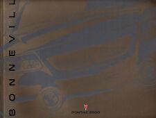 2000 Pontiac Bonneville 28-page Original Sales Brochure - SE SLE SSEi