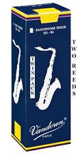 Twin Pack Vandoren Traditional Tenor Saxophone Reeds 1.5 2 2.5 3 or 3.5 Free Del