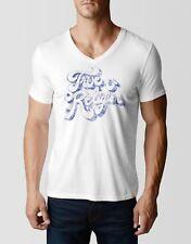 True Religion Jeans Men's True Swank V-Neck T-shirt White MS4A301IZ6