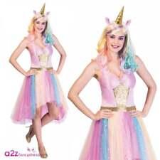 Ladies Mystic Unicorn Costume Magical Rainbow Adults Fantasy Horse Fancy Dress