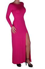 Da Donna coscia alta fessura uno stile di linea-manica lunga moda Semplice Casual Maxi Abito