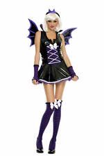 Adult Halloween Women's Sexy Vinyl Vampire Bat Costume