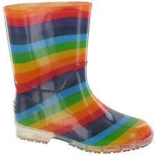 Cotswold PVC Childrens /Kids /Girls Rainbow Wellies /Wellington Rain Boots