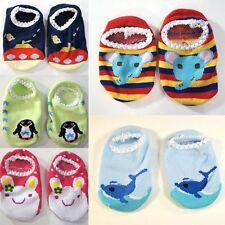 3 PC Set- Toddler Sock Shoe Soft Baby Non-Skid Slipper Anti-Slip Infant Girl/Boy