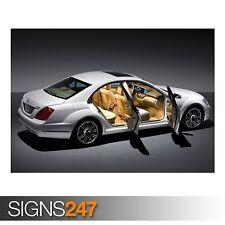 Mercedes Benz (AB293) cartel de auto-foto imagen arte cartel impresión A0 A1 A2 A3 A4