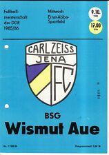 OL 85/86 FC Carl Zeiss Jena - BSG Wismut Aue