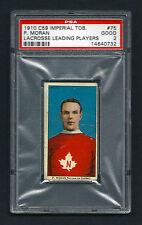PSA 2 1910 C59 LaCROSSE CARD #75 PADDY MORAN