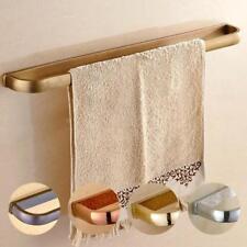 Bathroom Bath Towel Rack Holder Single Rail Bar Brass Wall Mounted Hanger Shelf