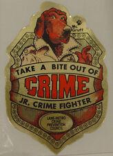 MCGRUFF JR THE CRIME FIGHTER BADGE STICKER NEW