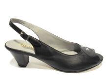 Franico 075 nero sandalo tacco basso donna sandal low heel woman made in italy