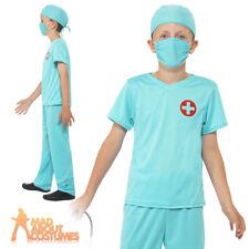 Child Surgeon Doctor Scrubs Boys Girls Kids Costume Fancy Dress Book Week Day