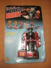 80'S Motorized Robot Die Cast Pull Back Train Locomotive Moc Transformers