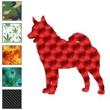 Norwegian Elkhound Dog Decal Sticker Choose Pattern + Size #1985