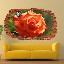 Naturaleza increíble jardín de rosas 3D Pegatinas De Pared Decoración Tienda De Oficina Sala de Arte de Mural TV6
