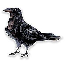 2 x Raven Crow Vinyl Sticker Travel Car Luggage #9191