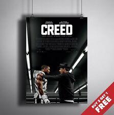 Creed Movie Poster * Boxeo Rocky Balboa Sylvester Stallone Nueva película de impresión A3 A4