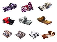 Wolldecke Kuscheldecke Decken verschiedene Größen Variationen Tiermotiv Fell