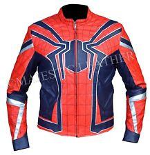 Armadura De Spiderman Vengadores Infinito Guerra Imitación Cuero Chaqueta De Traje