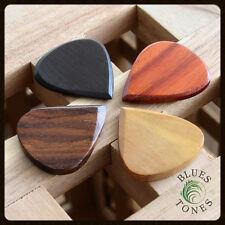 Timber Tones Blues Tones Guitar Pick / Plectrum - Choice Of 4 Woods + 4 Packs