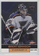 2000-01 Pacific Vanguard #143 Brent Johnson St. Louis Blues Hockey Card