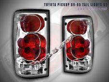 89-95 Toyota Pickup PickUp Tail Lights Chrome 94 93 G2