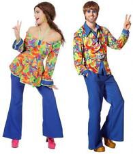 70er 80er Jahre Herren Damen Bluse Hemd Kostüm Anzug Kleid Hippie Hippy Party