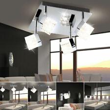 Chrom Decken Wand Hänge Leuchten Spot Strahler Lampe Glas Würfel Küche Büro Flur