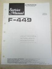 Pioneer Service Manual~F-449 Tuner~Original~Repair