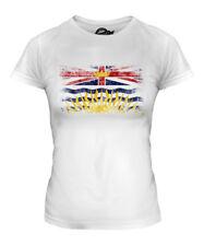 BRITISH COLUMBIA DISTRESSED FLAG LADIES T-SHIRT TOP BRITISH COLUMBIAN B.C. SHIRT