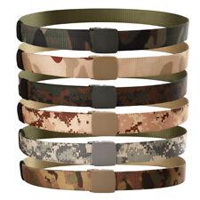 130cm Tactical Belt Mens Army Military Waist Belts Canvas Belts Automatic Buckle