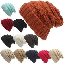 Mens Womens Knitted Winter Oversized Slouch Beanie Hat soft Warm Cap Skateboard