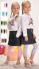 Leggings Kinder Mädchen Leggins alle Größen Farben glatt, gerafft oder m Spitze