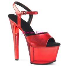 Sexy SANDALI tacco 18 dal 35 al 41 plateau cinturino 6 COLORI scarpe GLAMOUR